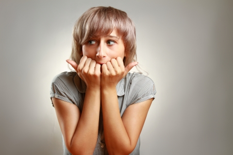 fear apprehension girl