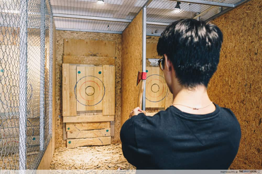 Unique Date Ideas Axe Throwing Singapore