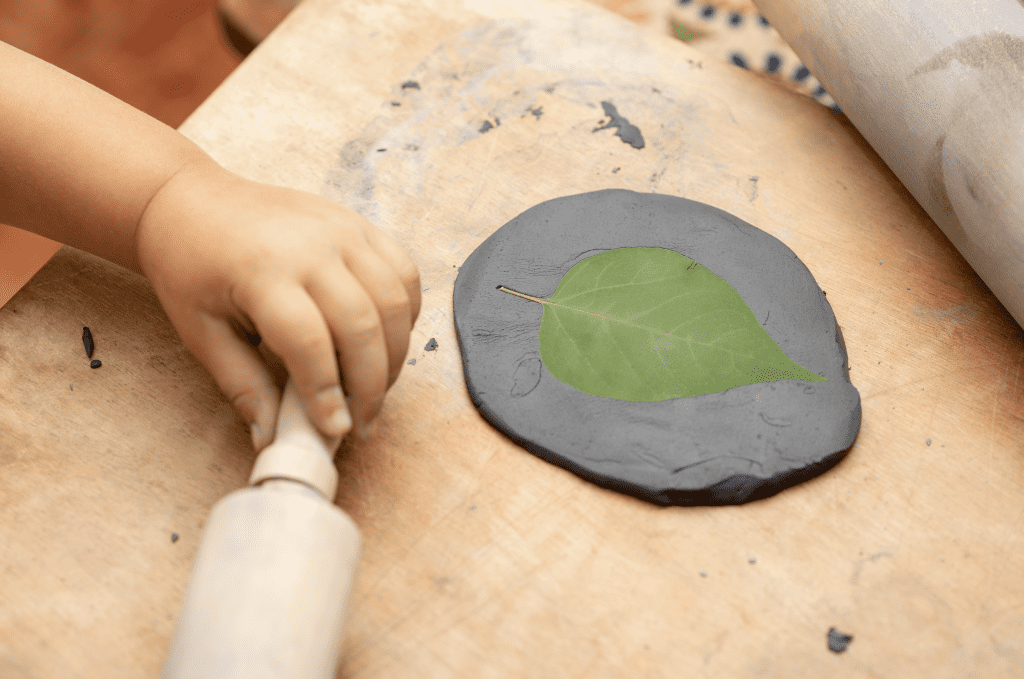 Nature's Play Dough WIth Leaf
