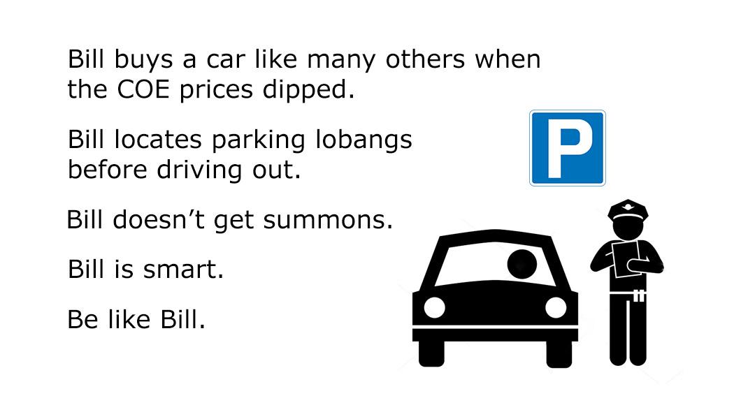 be like bill car park singapor